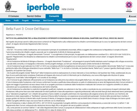 gravalosdimonte Bella Fuori 3 Bologna Patti Collaborazione Beni Condivisi