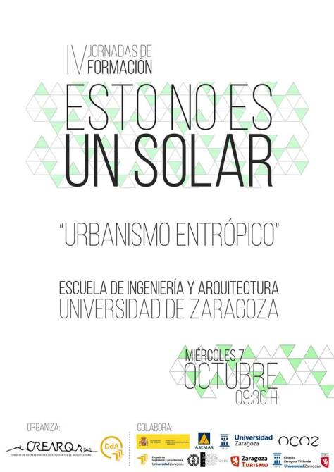 estonoesunsolar conferencia EINA CREARQ semana internacional arquitectura
